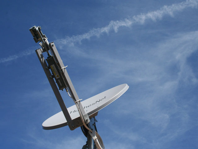 HughesNet Satellite Dish and Arizona Sky. Credit: Alan Levine / Flickr